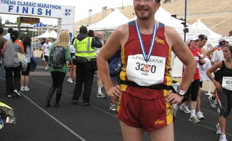Prvý maratón, Atény, november 2008
